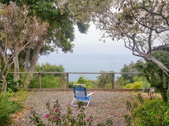 New Camaldoli Hermitage: private garden overlooking the ocean