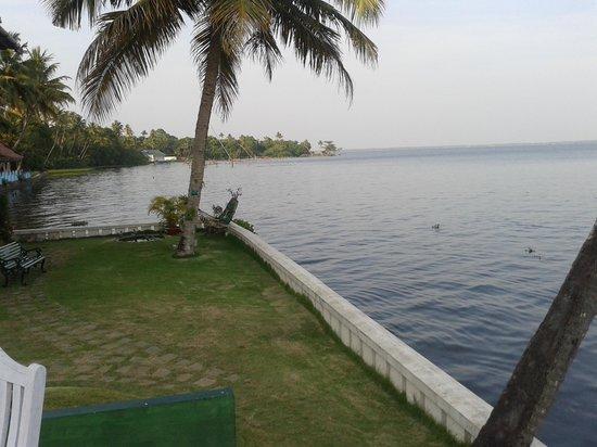 Lemon Tree Vembanad Lake Resort : The view of the lake.