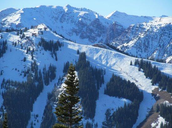 St. Moritz Lodge & Condominiums: Picture Aspen Highlands taken from top of Aspen Mtn.
