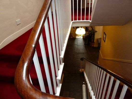 The Bell At Sax': flight of stairs to the room, the poor girl carried our cases for us,thanks