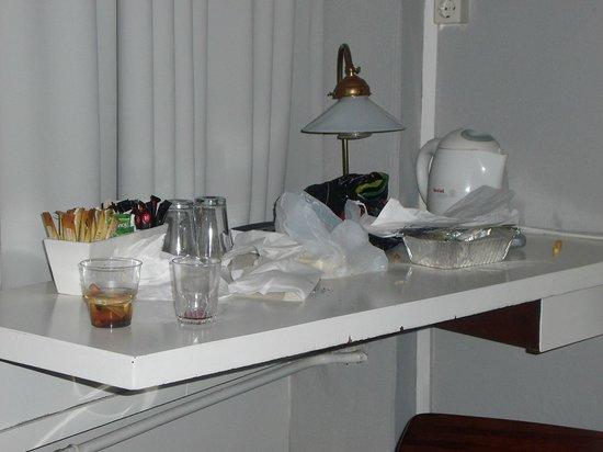Grand Hotel Central: Zo zag de tafel er bij binnenkomst uit