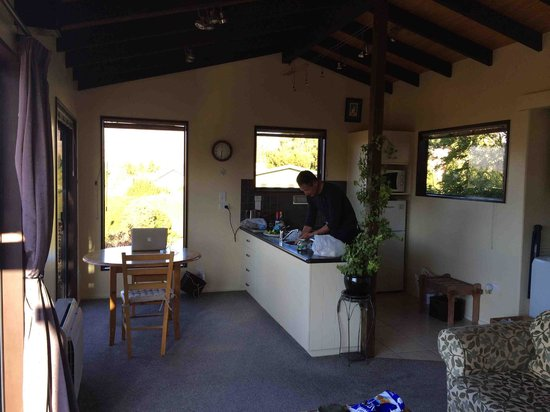 TekapoB2 Lakeview Apartment: Cooking in the kitchen