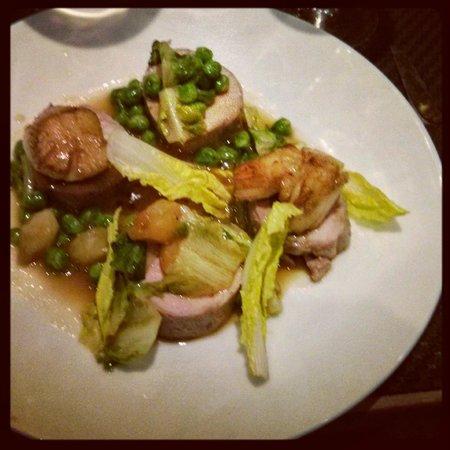 Arsenic Restaurant : Cochon, petits poids et St Jacques