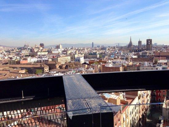 Barcelo Raval: Aussicht aus der Dachterrasse