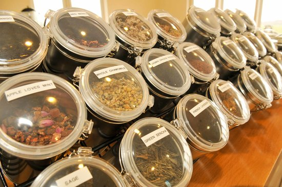 Cafe Thyme: a wide selection of loose leaf teas.