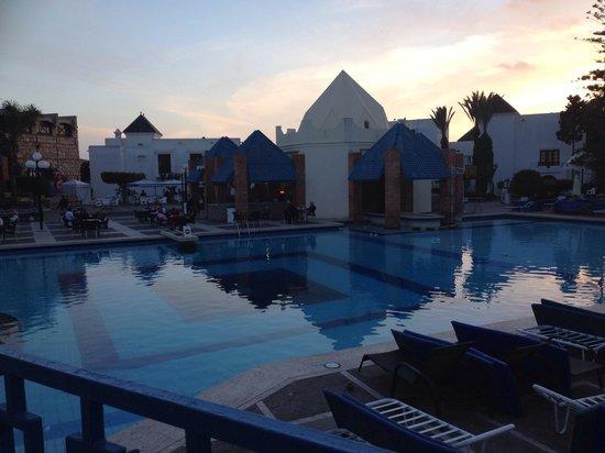 Agador Tamlelt: Sunset from hotel