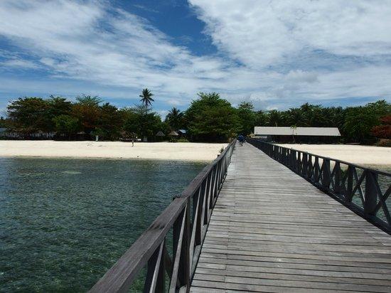 Borneo Divers Mabul Island Resort: ダイブセンターへの桟橋
