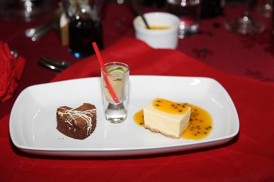 Dessert from the Ball at Shipley Golf Club