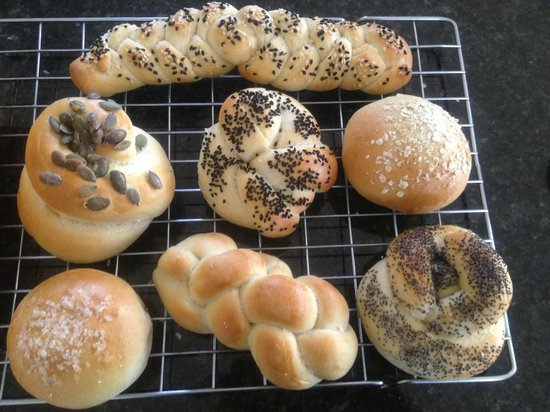 Northcote Cookery School: white seeded rolls
