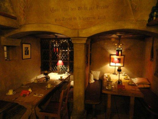 Hôtel Castillo Alcazar : salle à manger / petit dejeuner