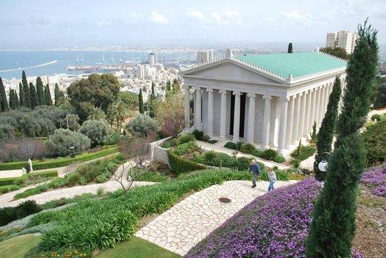 Terrasses baha'ies : Baha'i Gardens and Golden Dome - Haifa
