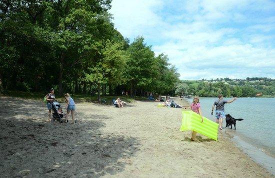 Camping Salavaux Plage TCS : Ufer des Murtensees