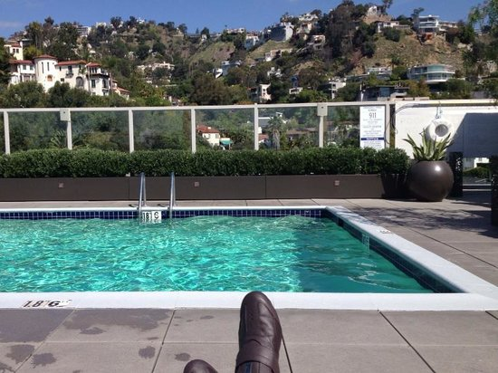 Andaz West Hollywood: Rooftop pool at the Andaz