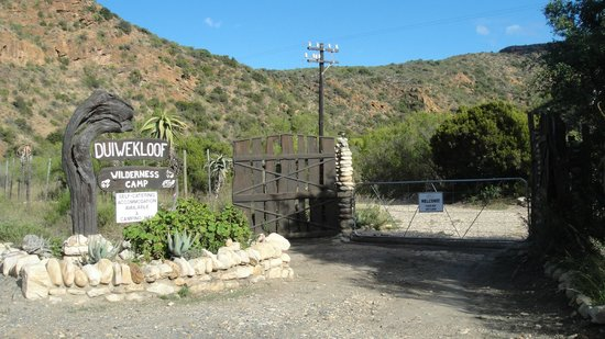 Duiwekloof Lodge: Entrance to Duiwekloof