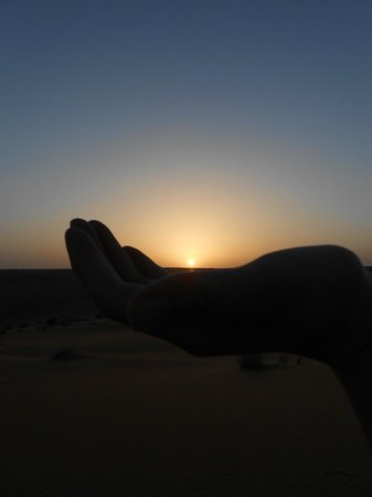 Desert Retreat Camp : Coucher de soleil