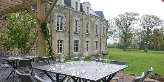 Le Manoir de La Jahotière : Terrasse restaurant