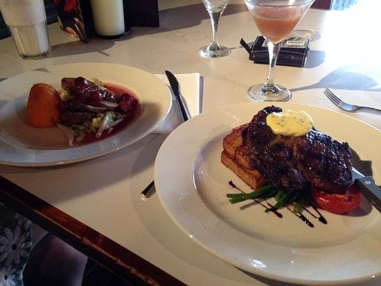 PANAM Restaurant And Bar: Duck breast and Ribeye steak