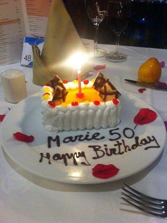 Gloria Palace Royal Hotel & Spa: Finaste tårtan fick jag av hotellet Tack