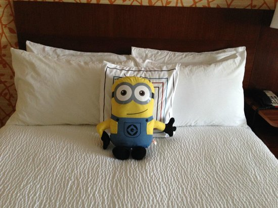 Fairfield Inn & Suites Knoxville West: Housekeeping added a special touch. This was my son's.