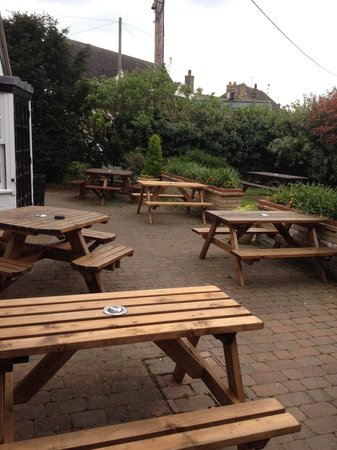 The Green Man: Beer garden