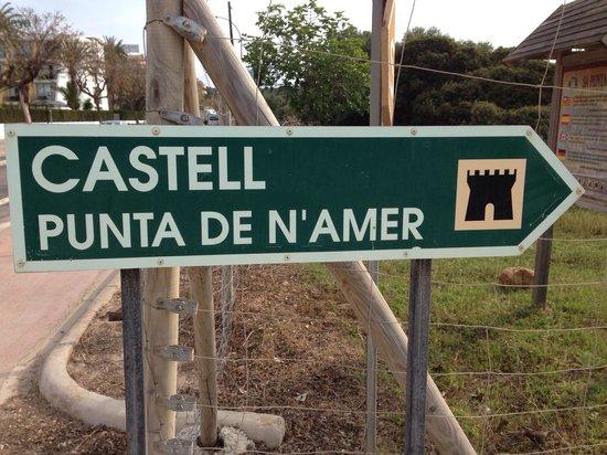 Punta Amer: Wegweiser