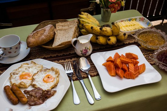 Baitong Homestay: great breakfast set