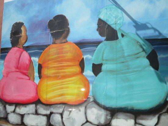 Mustique Suites Curacao: Prachtige muurschilderingen in Renaisance mall