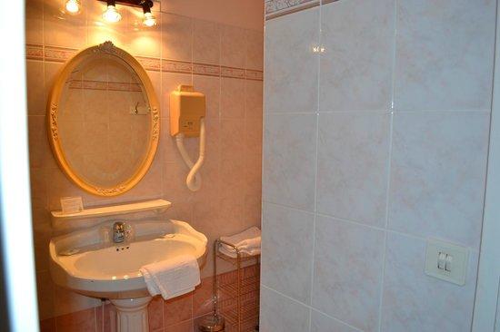 Hotel le Castel : Salle de bain standard