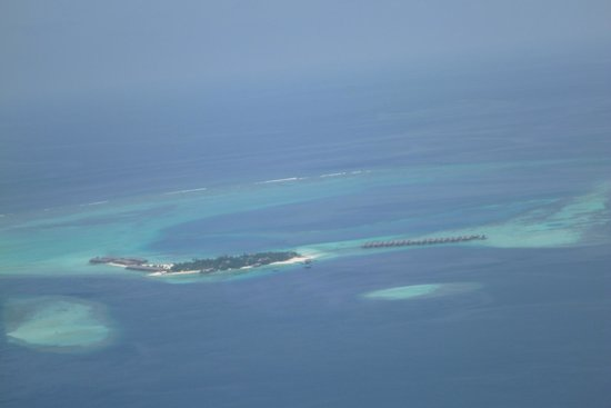 Constance Moofushi: View of the Island from the Seaplane