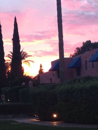 Sunset at the Arizona Inn.. April 11, 2014