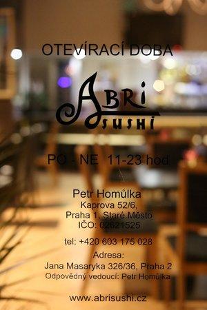 """Restaurant&Sushi-Bar """"ABRI-SUSHI""""!"""