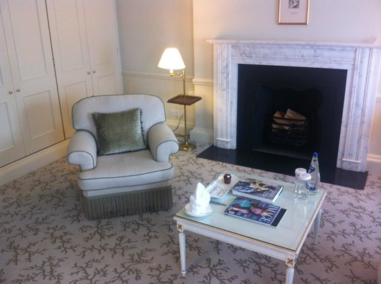 The Merrion Hotel: Fireplace in room