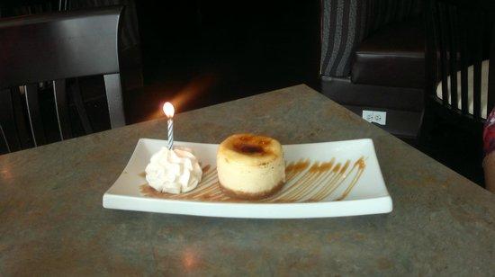 Wildfire Grillhouse Lounge Birthday Dessert