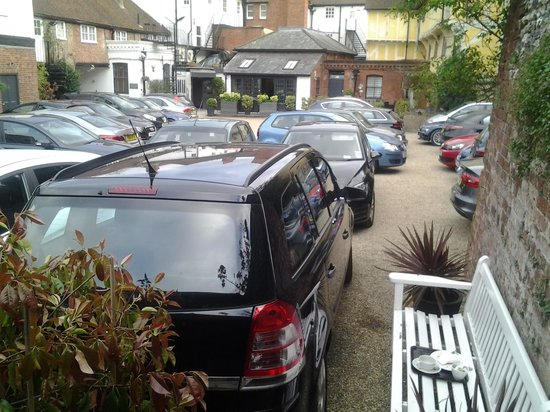 """The Red Lion Hotel: The view from our door onto the """"court yard"""" The doors oppersite where wide open to help the noi"""