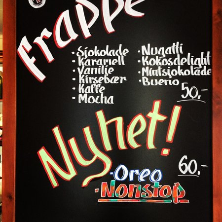 Traktern kaffebar: Frappuccino :)