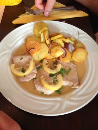 Restaurant Del Sole: Veal with Fried Potatoes