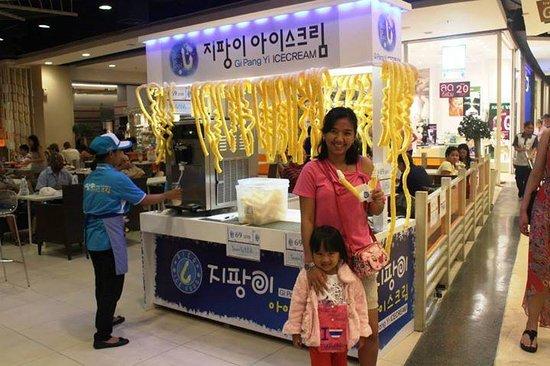 CentralFestival Pattaya Beach: ice cream with a weird corn lol