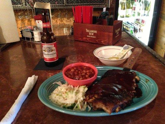 Wildcat Willies Ranch Grill & Saloon : St. Louis pork ribs half rack
