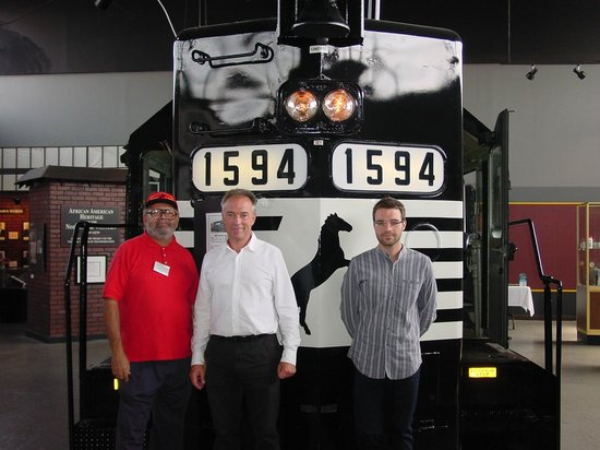 Virginia Museum of Transportation : Guests from Italy with tour guide.