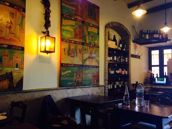 Osteria RossoDiVino : Delicious wine and very knowledgable host, she let me try different wines before committing :)
