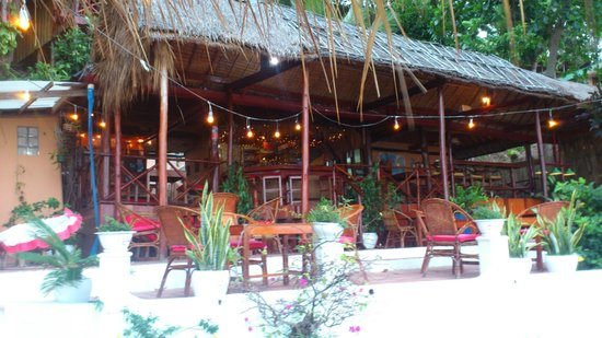 Cloud9 Bungalows : Restaurant, Bar, Empfang