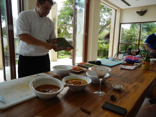 Chef Dean Cooking Class: Chef Dean teaching us about the spices