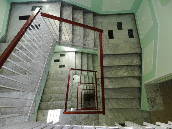 Hotel Central: View of stairwell from 5th floor.