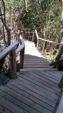 L'Alyana Villas Ninh Van Bay: hill rock villa 29 stairs leading to villa