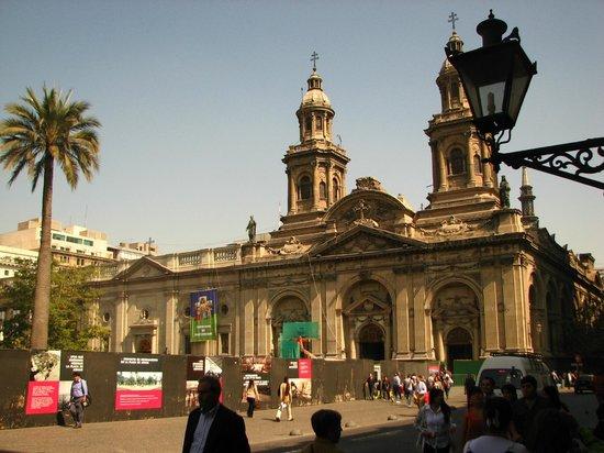 Plaza de Armas: Praça das Armas com tapumes para obras