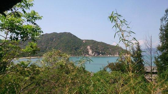 L'Alyana Villas Ninh Van Bay: view from bedroom balcony hill rock villa 29