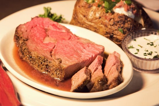 Jaker's: Prime Rib with a Baked Potato