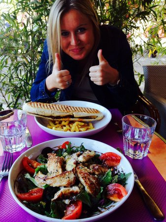 NOMAD Bar : Two thumbs up for our delicious caesar salad and panini American!!
