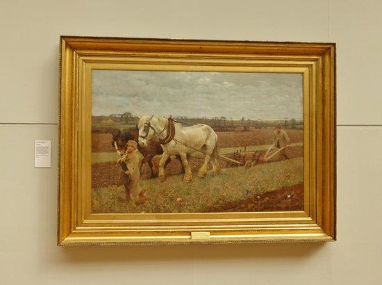 Aberdeen Art Gallery: Ploughing , 1889 Sir George Clausen.