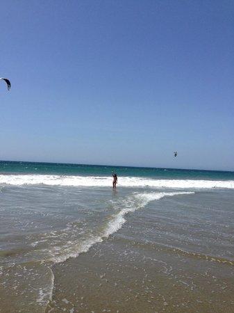 Bora Bora Bungalows: Kitesurfing just in front of Bora Bora - Puerto Antiguo beach